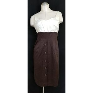 👗Worthington Size 4 Dress Off White Brown